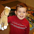 Nathan with his beloved horsie!