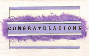 Purplecongratulationscard
